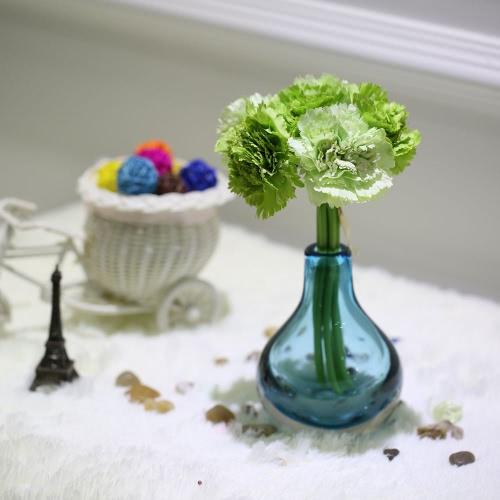 Anself 6 têtes oeillet Bouquet fleurs artificielles fleurs en soie pour la maison et Hotel décoration fleurs pour fête de mariage