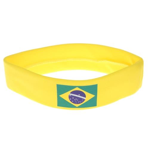 Anself Бразилия флаг оголовье руководитель группы Sweatband аплодисменты отряд Футбол Футбол спорт вентиляторы для волос карнавал фестиваля костюм