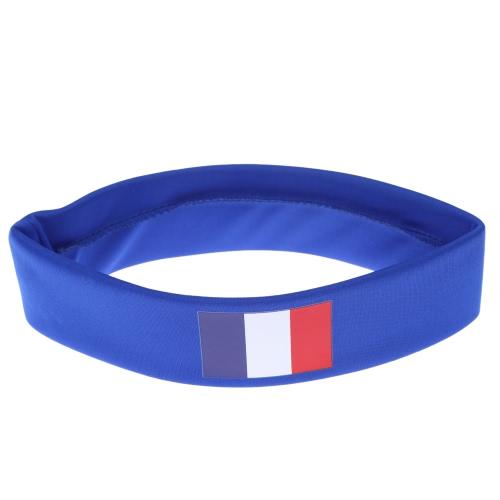 Anself Франции флаг оголовье руководитель группы Sweatband аплодисменты отряд Футбол Футбол спорт вентиляторы для волос карнавал фестиваля костюм