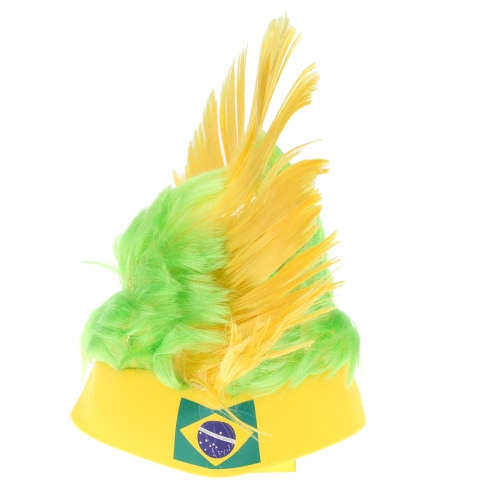 Anself Germany Flag Football Soccer Fans Wig Cockscomb European Cup FIFA World Cup Sports Carnival Festival Cosplay Costume
