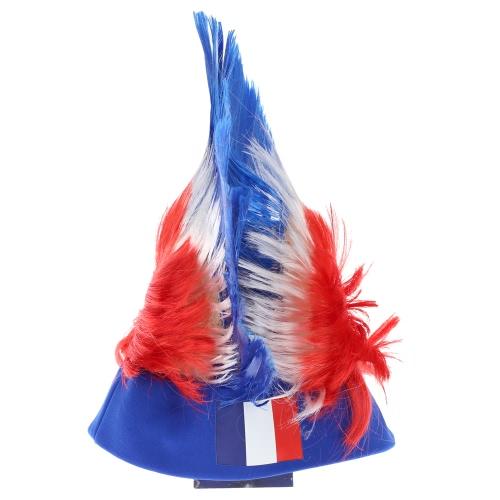 Anself Франция флаг футбол футбольные фанаты парик петушиный гребень Кубок европейских чемпионов ФИФА мира Кубок спортивный карнавал фестиваля косплей костюм