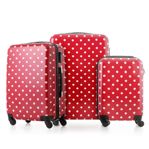 TOMSHOO Moda 3PCS Juego de equipaje maleta de equipaje de la PC + ABS carro 20