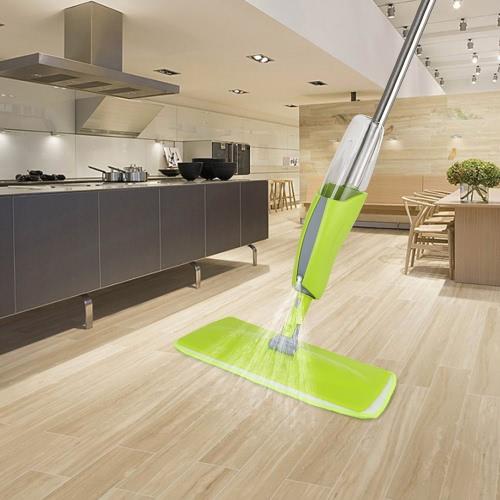 iKayaa Acciaio inossidabile Microfibra Spray Mop Wet Mop