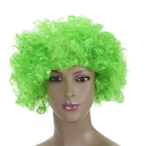 Festnight Взрослый Красочные клоун афро парик завитые Halloween Masquerade Косплей Костюм парик Болельщики
