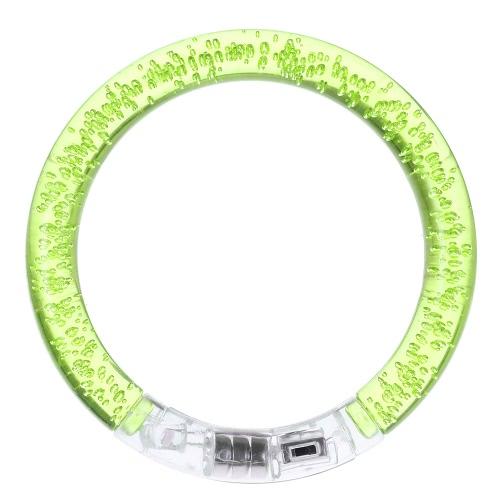 Fashion Colorful Flashing LED Bracelet Acrylic Luminous Light Up Glow Bracelet Wristband Bangle 3 Modes Alternate for Party Bar Concert