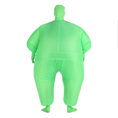 Costume Jumpsuit inflável gordo engraçado Adulto Tamanho inflável do traje de corpo inteiro terno Air Fan Operado Blow Up Fancy Dress Partido Sports Halloween