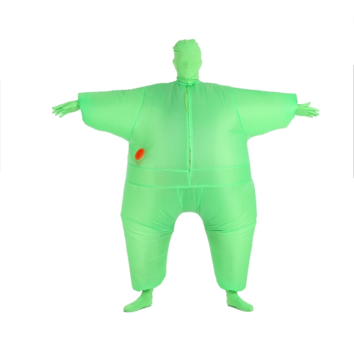 Decdeal Funny Adult Size Inflatable Full Body Costume Suit Air Fan Operated Blow Up Fancy Dress Halloween Sports Party Fat Inflatable Jumpsuit Costume
