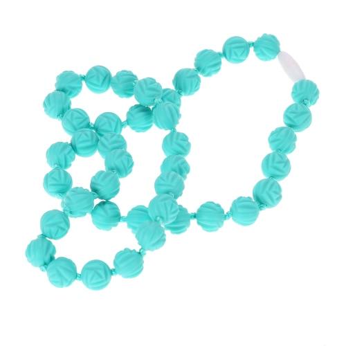Качество еды силикона Зубные Nursing ожерелье жевательные шариков игрушки младенца Teether ювелирных изделий BPA Free