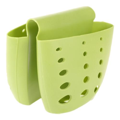 2 in 1 Kitchen Accessories Holder Drain Bag Dish Cloth Sponge Organizer Storage Bags Sink Tap Saddle Draining Hanging Baskets