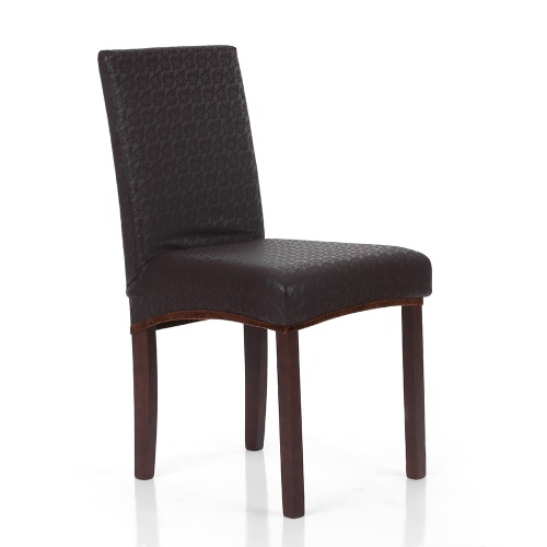 Double-sided Polyester Spandex Chair Cover Embossing Stretch Removable Slipcover Chair Seat Cover for Hotel Dining Meeting Room