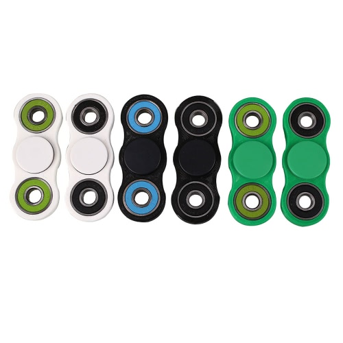 New Hot Finger Spinner Fidget Toy High Quality Hybrid Ceramic Bearing Spin Widget Focus Toy EDC Pocket Desktoy Gift for ADHD Children Adults Compact One Hand H18047W-GR