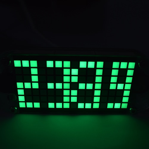 DIY Digital LED Clock Kit DS3231 High Precision Touch Key Control Clock Adjustable Brightness Dot Matrix Temperature Date Time Display