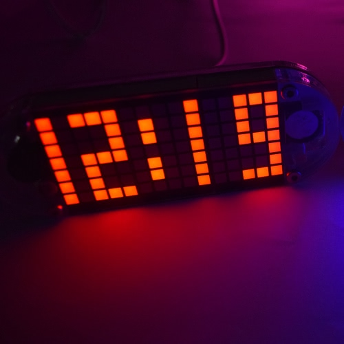 DIY Digital LED Clock Kit DS3231 High Precision Touch Key Control Clock Adjustable Brightness Dot Matrix Temperature Date Time Display