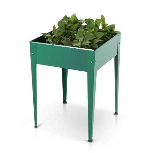 IKayaa Metal Patio podniesiony ogród doniczkowy pudełko kwiat podbity ogród łóżko warzywa ogrodowe ziele ogrodnicze pionowe zestawy do planterii