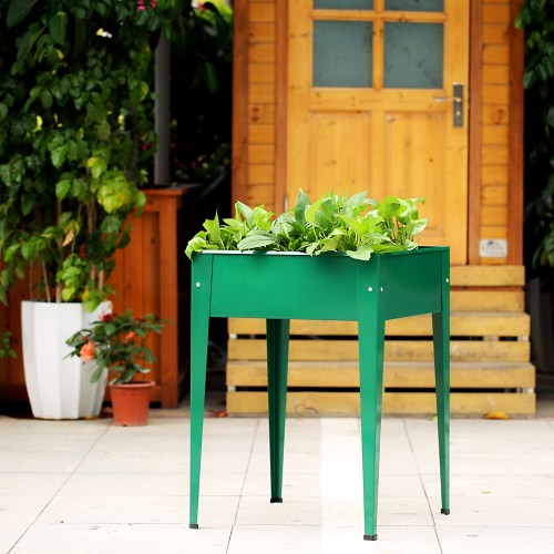 IKayaa Metall Patio erhöhter Garten Pflanzer