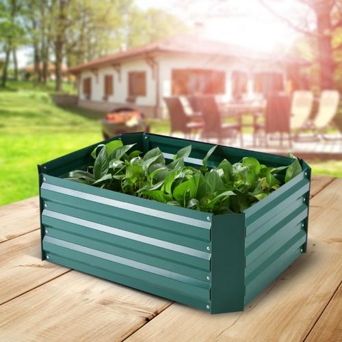 IKayaa Rectangle Metall Raised Garten Bett Pflanzer