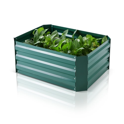 IKayaa Rectangle Metal Raised Garden Bed Vegetable Flower Herb Planter Kit 75 * 56.5 * 30cm (L * W * H)