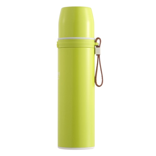 450ml Спортивная нержавеющая сталь Вакуумная изоляционная чашка Кружка Вода Кофе Чай Термальный термос Бутылка с ручным ремешком