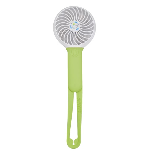 Mini Portable USB Fan with 3 Level Adjustable Fan Speed with LED Light Handheld Fan with Silicone Handle