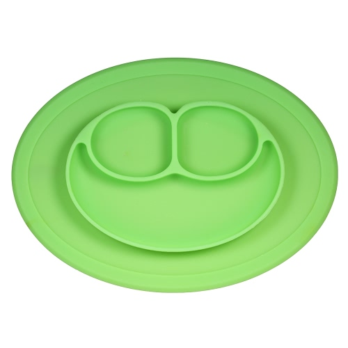 BPA-free Silicone Non-Slip Baby Suction Placemat Flexible Heat Resistant Kids Fruit Food Plate Bowl Tray