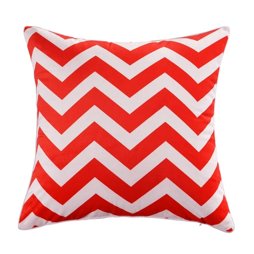 """18""""*18"""" Zig-Zag Pattern Decorative Sofa Chair Square Throw Pillow Case Well-Made Soft Cushion Cover Zig Zag Stripes Pattern Pillow Cover 45*45Cm Pillow Sham With Hidden Zipper Closure--Brown & White"""