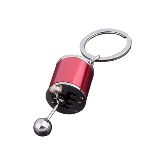 3D Metal Fashion Creative Auto Part Model Six-speed Manual Transmission Shift Lever Key-chain Key-ring Key Chain Ring Keyfob