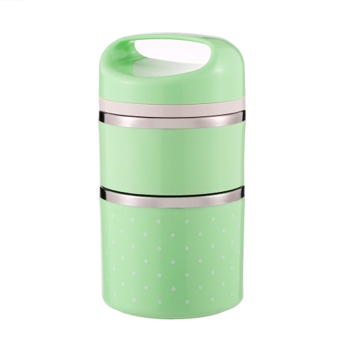 1080ml 2-Layer Good Quality Stainless Steel Thermal Lunch Box Practical Handy Insulation Lunch Box Multifunctional Heat & Cold Preservation Box Food Carrier Travel & To-Go Food Containers
