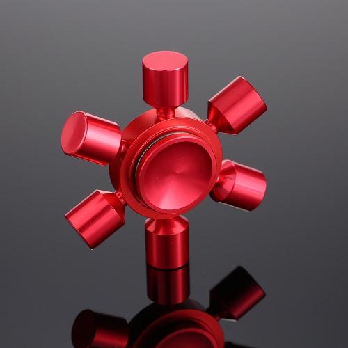 6 brazos extraíble DIY Fidget dedo de la mano triple reductor de estrés Metal Spinner Spin Widget Focus escritorio juguete para Fidgeters Ansiedad Autismo TDAH Focus Niños Adultos Regalo