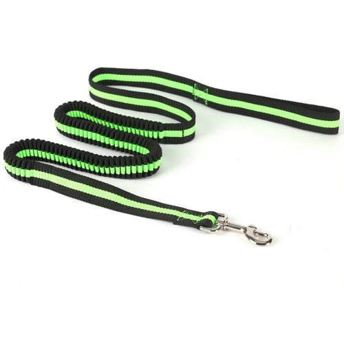 Noctilucent Elastic Adjustable Retractable Lead Rope Dog Running Leash Shock Absorbing Restraints Durable for Pet Vest