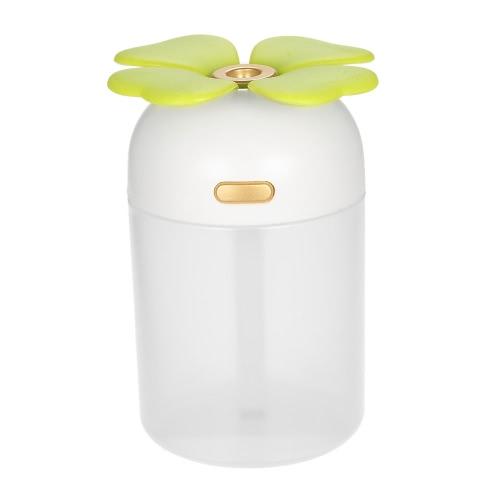 220ml Многофункциональный портативный USB-увлажнитель Handy Mini Aroma Diffuser Четыре увлажнителя USB-клевера с красочным ночным освещением