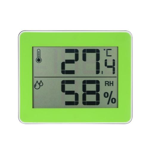 LCD Digital Indoor Thermometer Hygrometer Temperature Humidity Measurement °C/°F Max Min Value Display