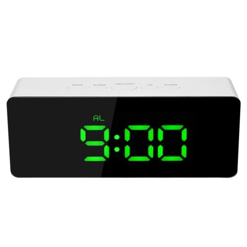 Цифровой светодиодный зеркальный будильник с USB и аккумулятором