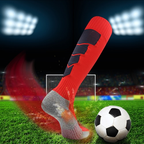 2 пары Мужские дышащие капризные коленные высокие спортивные носки Спорт Спортивная компрессия Футбольные носки для США 7.5-10.5 / Великобритания 6.5-9.5 / EU 40-46 Черный
