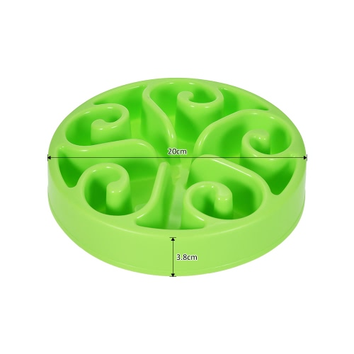 Dog Cat Slow Feeder Bowl Interactive Pet Water Food Feed Dish Non-toxic Eco-friendly Anti-slip Prevents Choking Bloating