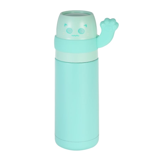 300ml Mignon Lucky Cat Vacuum Water Cup Acier inoxydable sous vide Bouteille d'eau isolée Haute qualité Warm Keeping Bouteille d'eau Heat & Cold Preservation Bouteille Travel & To-Go Water Bottle
