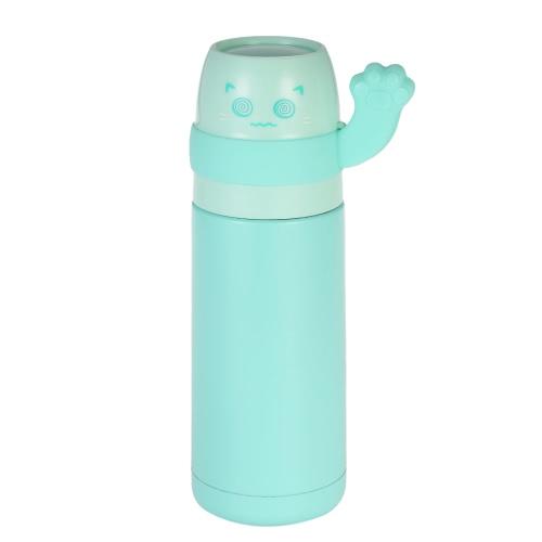 300ml Słodkie szczenięta szczotka do kuwety wodnej ze stali nierdzewnej Odkurzana izolowana butelka do wody Wysokiej jakości ciepłe utrzymywanie butelki z wodą Heat & Cold Preservation Bottle Travel & To-Go butelka do napojów