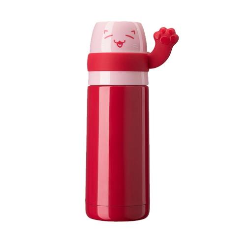 300 мл Cute Lucky Cat Вакуумная чашка для воды из нержавеющей стали Вакуумная изоляционная бутылка с водой Высокое качество Теплый хранения Бутылка с водой и холодная консервация Бутылка для путешествий и бутылка для воды