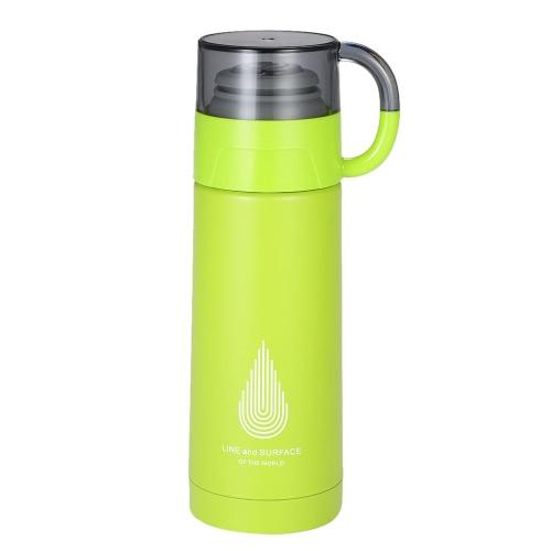 350 мл Твердая вакуумная чашка для воды из нержавеющей стали Вакуумная изоляционная бутылка с водой Высокое качество Теплый хранение бутылки с водой Горячая и холодная бутылка для хранения бутылок и бутылка для воды