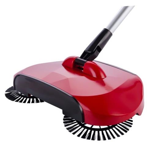 Hand Push Sweeper Автоматическая нержавеющая сталь Подметальная машина Ручка Метла Посудомоечная машина для полов 360 градусов Вращающаяся подметающая пыль