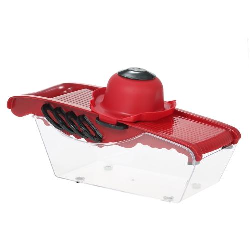 6-in-1 Multifunktionale Gemüse Obst Slicer mit Peeler Gemüse Schäler Slicer Cutter Einstellbare Edelstahl Klingen Multifunktionale Küche Werkzeuge