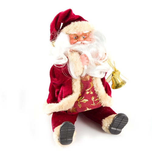 Christmas Santa Claus Toy Figurine Sitting Standing Dolls Cute Christmas Ornaments Kids Gifts Festive Party Decoration