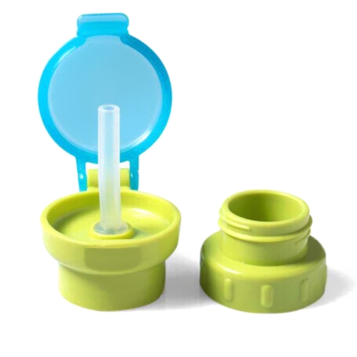 Baby Straw Lid Portable Converts to Bottle Snap Cap Infant Spill-proof Straw with Cap for   Toddles Babies