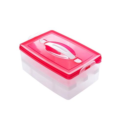 Двойной слой Пластиковый ящик для яиц Кухонный холодильник Контейнер для хранения ящиков / Держатель / Case Food Crisper Organizer