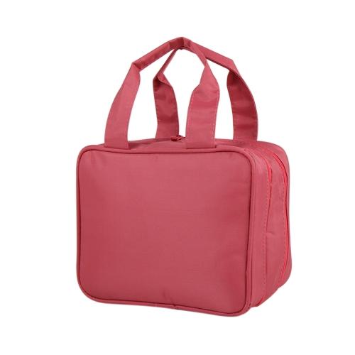 Портативный Travel Camping Organizer Водонепроницаемый косметический бритвенный шкаф для макияжа Комплект туалетной бумаги Большая сумка для хранения Многофункциональная сумка для хранения (красная)