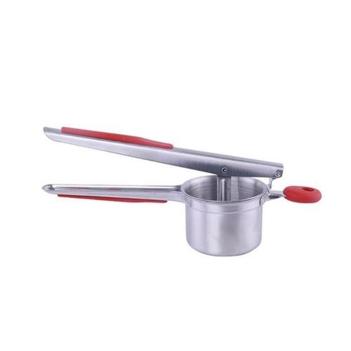 Silica Gel Anti-Skidding Hand Shank Нержавеющая сталь Картофелеуборочная машина Многофункциональное устройство для нанесения картофеля Puree Tool