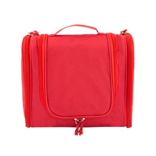 Portable Hanging Toiletry Organizer Bag Foldable Large Capacity Cosmetic Makeup Case Travel  Bathroom Accessories Red