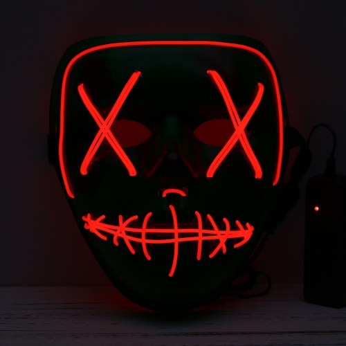 Adults Halloween LED Light Up Mask Halloween Costume Supplies фото