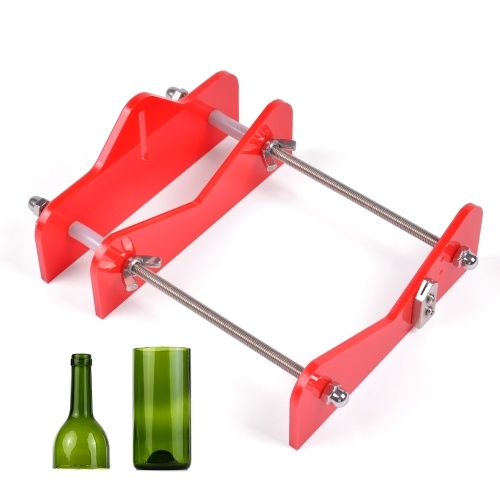 DIY Glass Bottle Cutter Acrylic Bottle Cutting Tool with Sandpaper for Wine Beer Bottles Mason Jars