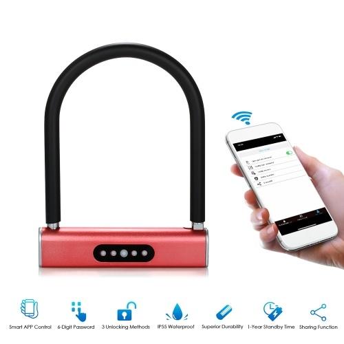 BT Smart Keyless U-Type Lock APP / Keyboard Password Bicycles Motorcycles Lock