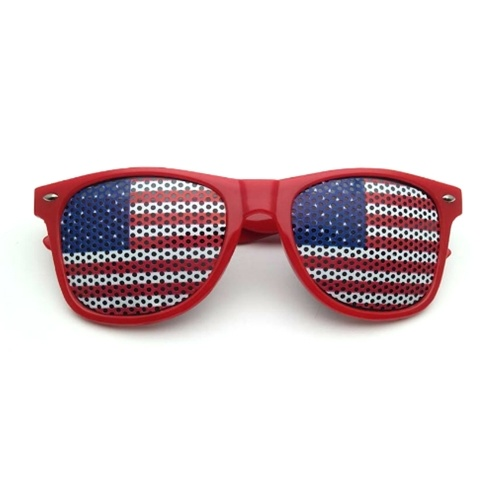 Flag Patriotic Design Lastics Shutter Glasses Shades Sunglasses for Independence Day Party Decoration
